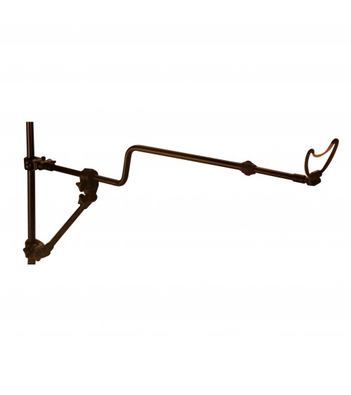 Braccio di sostegno telescopico a due punti d'appoggio con una curvatura per migliorare la tenuta