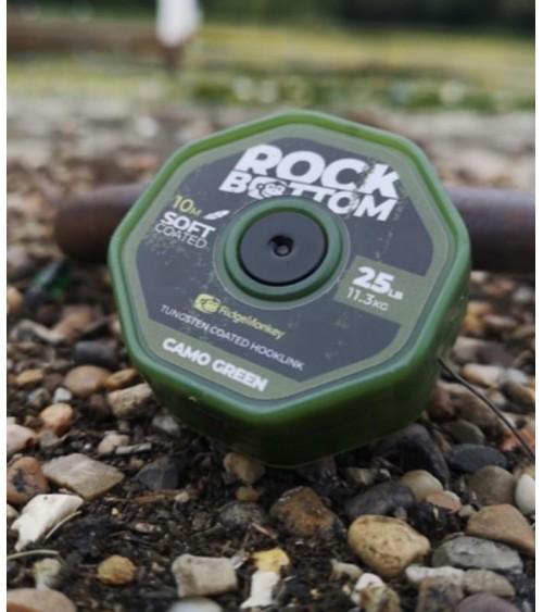 Trecciato Rock Bottom Camo Brown Ridge Monkey rivestimento morbido è eccellente per la pesca su fondali o detriti limosi