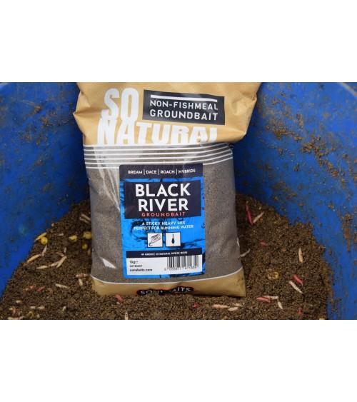 SO NATURAL BLACK RIVER è un mix pesante e ben legante, ad alta nutrizione con pangrattato, cereali e spezie